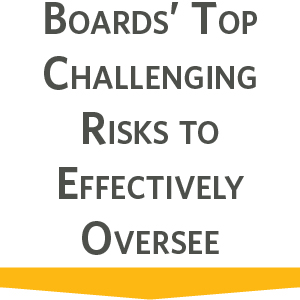 Boards top challenging risks